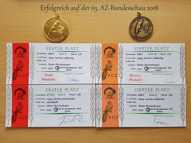 Erfolgreich auf der 65. AZ-Bundesschau 2018.