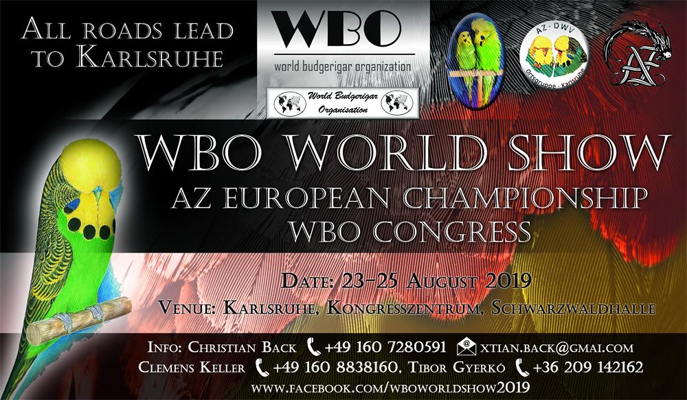 Einladung zur WBO World Show & AZ European Show 2019 in Karlsruhe vom 23. - 25. August 2019